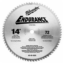 Milwaukee 48-40-4505 14 in. 72 Tooth Dry Cut Carbide Tipped Blade