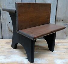 Solid Wood Doll Sized School Desk Small (Under 14 in) Early Style - Cute!