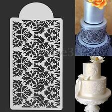 Damask Lace Flower Border Cake Side Stencil Embosser Sugarcraft Icing Decoration