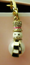 New In Box JUICY COUTURE Snowman Charm With Crystal YJRUOC03