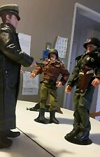 """1/6 Scale 12"""" 3 Action Figures Nazi General Surendering To Paton"""
