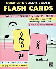 Complete Color Coded Flash Cards for All Beginning Music Students Cards - New