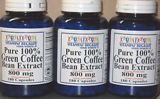 100% Pure Green Coffee Bean Extract Chlorogenic Acid 800mg Weight Loss 540 Caps