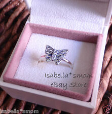 LOVE TAKES FLIGHT Authentic PANDORA Silver/CZ BUTTERFLY Ring Sz 9/60 Spring NEW