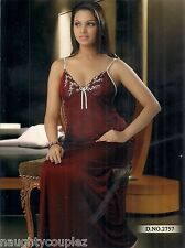 Hot Sleep Wear 1pc Nighty Daily Night Babydoll Slip Gown 2757 Maroon Women