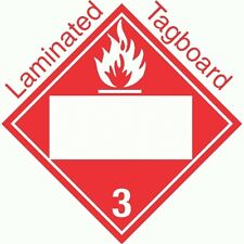 Blank Window Flammable Class 3 Laminated Tagboard Placard (Pack of 50)