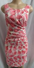 """ANN TAYLOR"" PINK FLORAL CAREER CASUAL COCKTAIL DRESS SIZE: M NWT $90"