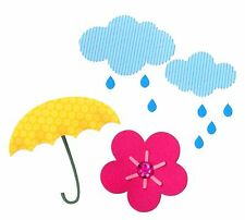 Sizzix Thinlits Cloud, Flower, Rain & Umbrella 7pk set #660401 Retail $12.99