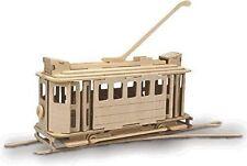 Tram: Woodcraft Quay Elettrico Tram Costruzione Legno 3D Kit Modello P306 Età 7