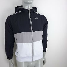 Vintage ADIDAS Jacket Track/Hoodie (Womens 8-10) Hooded Track Retro 90s/80s Zip