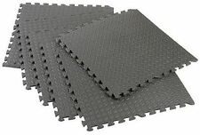 new , 32 SQ FT EVA INTERLOCKING SOFT FOAM FLOOR MATS GYM GARAGE EXERCISE -GREY