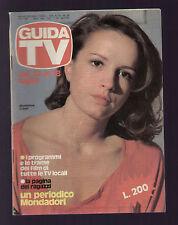 GUIDA TV MONDADORI 28/1981 MADDALENA CRIPPA PROGRAMMI TA LOCALI ZONA CENTRO
