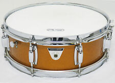 "1970's Vintage LUDWIG 5x14 Standard ""JAZZ FESTIVAL"" SNARE DRUM, Gold, FREE SHIP!"