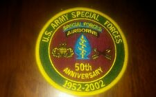 "US Army Special Forces 50th Anniversary collector's sew-on patch 3.5"" width"