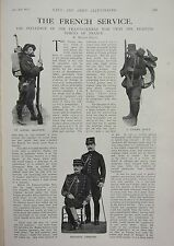 1914 WWI WW1 PRINT ~ FRENCH SERVICE CYCLIST SCOUT ALPINE CHASSEUR INFANTRY MARCH