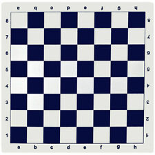 BLUE VINYL TOURNAMENT CHESS BOARD HIGH QUALITY *NEW*