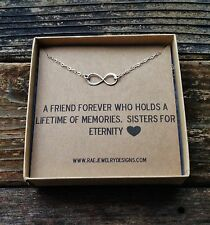 Sterling Silver Infinity Necklace For a Sister A Perfect Gift for a Sister