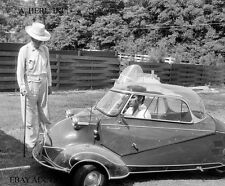 Messerschmitt KR200 1956 and Elvis Presley bubblecar minicar photo photograph