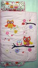 SoHo Nap Mat Pink Dancing Owls (All Hand Embroidery)