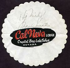 FRANK SINATRA Authentic Signed Autographed CAL NEVA drink coaster WOW