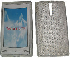 For Sony Xperia S LT26i LT26 Pattern Soft Gel Case Protector Cover Clear New UK
