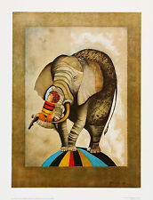 "ELEPHANT Lithograph by artist Graciela Rodo Boulanger - 12"" by 16"" - Collectible"
