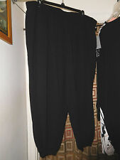 NWT 3X MELISSA MCCARTHY SEVEN 7  BLACK SOLID CUFF PANTS