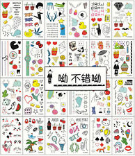 24 sheets temporary tattoos Waterproof temporary sticker cute women children
