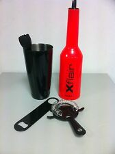 barman set flair bottle rossa con boston nero  Attrezzatura Barman Bartender
