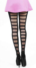 Pamela Mann Ladder Back Seam Black Tights ~ One size 8-14