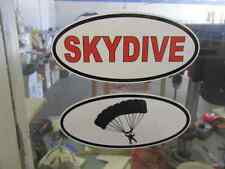 RED SKYDIVE & PARACHUTE OVAL Decals Car Window Bumper Sticker Plane Sky Dive