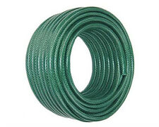 Garden Hose Pipe 50m Green Water Watering Sprinkle Reinforced Reel Outdoor