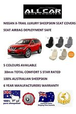 Sheepskin Car Seatcovers for Nissan XTrail ,Seat Airbag safe , 5 colours 30mm TC