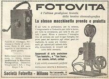 Y2585 FOTOVITA prende e proietta - Pubblicità del 1922 - Old advertising