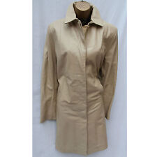 Marks And Spencer Cream Beige Longline Soft Leather Jacket Trench Coat Mac 16 UK