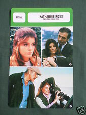 KATHARINE ROSS - MOVIE STAR - FILM TRADE CARD - FRENCH