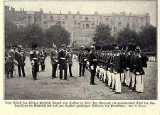 König Friedrich August v.Sachsen neuer Chef d.Seebataillons in Kiel c.1906