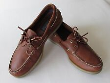 Sperry Top-Sider  Men's Brown Leather A/O 2 Eye Boat Shoe size 9