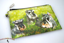 Schnauzer Dog Bag Zippered Pouch Travel Makeup Coin Purse