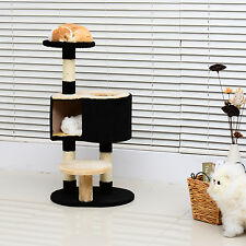 "PawHut 39""H Cat Tree Scratching Post Condo Activity Center Kitten Climb Tower"