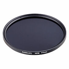 RISE(UK) 77MM 77mm Neutral Density ND8 filter for ALL DSLR SLR Camera lens .