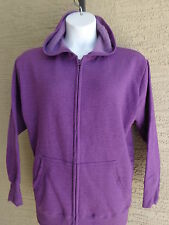 New Just My Size Eco Smart 50/50 Zip Front Hooded Sweatshirt 5X  Purple Heather