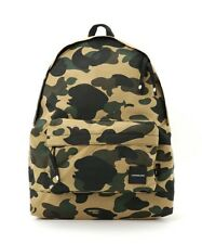 A BATHING APE 1st Camo Daypack (Cordura) Backpack Bag Bape Yellow Japan F/S New