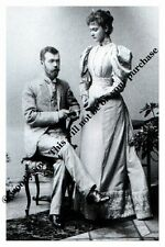 mm802 -Nicholas Romanov & Alexandra of Hesse engagement  in 1894 - Royalty photo