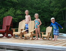 Junior Size Adirondack Rocking Chair Plans - Full Size Patterns