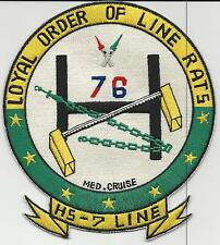 HS-7, Line, Med Cruise 76 (US Navy Squadron Patch) (from unit 1976)