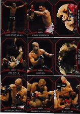 2011 Topps UFC Finest 100 Card Set Brock Lesnar Georges St-Pierre Anderson Silva