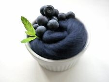 Midnight Blue Merino Wool Roving 4oz Felting Spinning Fiber Nuno Needle Felting