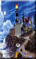 Single Light Switch Plate Cover - Moonlight Lighthouse