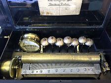Walzen Orchester Spielwerk Musik Box mit 10 Liedern Trommel 7 Glocken 85 Zähnen